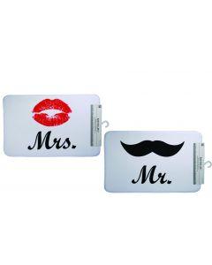 Set badmatten Mr en Mrs.