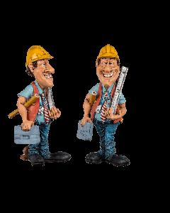 Funny figures - bouwvakker