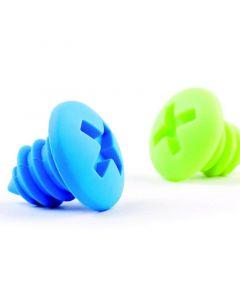 Design bottle screws blauw en groen