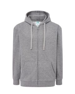 Hooded jacket grey melange