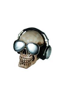 Skull spaarpot koptelefoon
