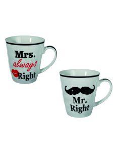 Mr. Right & mrs. Always Right mokken